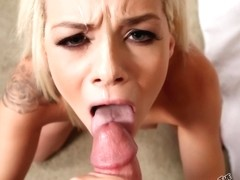 TheDickSuckers - Elsa JEan - Skinny Blonde Sucks Dong