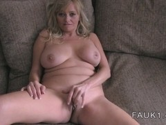 Busty British Milf banged on casting