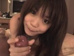 Teen Japanese slut banged in her hairy twat