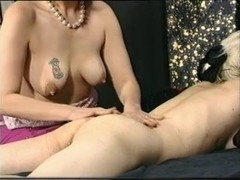Vintage clip shows prego MILF playing with boobs