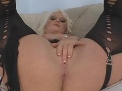 Mature blonde dreams about huge cock masturbating