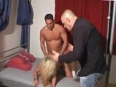 German Slut cuckolds boyfriend