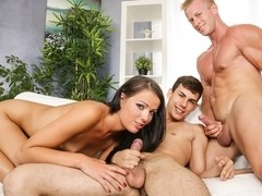 Gabrielle Gucci, Jenna Lovely, Isabella Chrystin in CUMSHOTS-Bi-Curious Couples #09