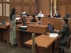 Hippy Nudist Undresses Off During Court Hearing