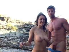 Fucking and Sucking Quickie in the Mountains