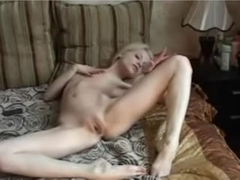 I'm touching my curves in sexy amateur blonde vid