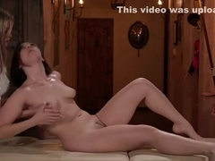 Sexy Masseuse Jenna Sativa enjoys fucking Carolina Sweets wet pussy