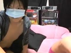 Petite tit Asian hottie gagging