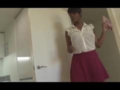 Mature ebony upskirt (XED)