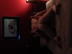 Bound up girlfriend drilled hard on hidden camera
