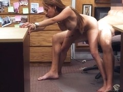 Crazy bitch sells her stuff and fucked by horny pawnkeeper