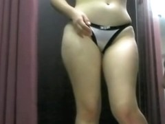 Sexy Asian amateur losing off her cloths in changing room dvd 781