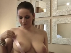Nervous Teen Nicole Sweet in solo depet before BJ