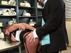 Tied Up and Spanked at the Bank