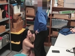 Chubby young lady dicked and facialized for thievery