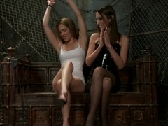 Incredible fetish, lesbian sex clip with horny pornstars Kiera King and Amber Rayne from Whippedass