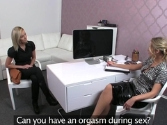 Delicious blonde Nancy during her porn casting