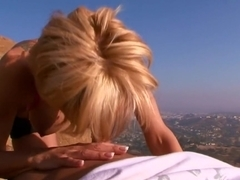 Horny pornstar Amber Lynn in best hardcore, blonde xxx movie