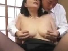 Japanese Mom Widow getting fucked hard