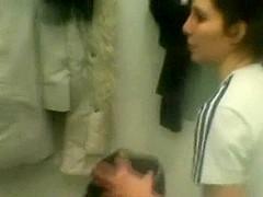 Voyeur clip of sluts in a lockerroom