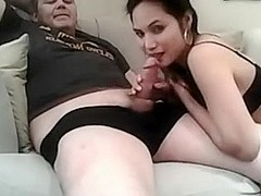 hot asian sucks cock