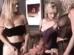 3 blondes dominate their boy