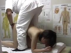 Girl with bushy cunt is in pre orgasmic state on voyeur porn