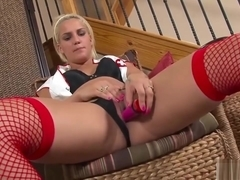 Cute Blonde Nurse Plays With Herself