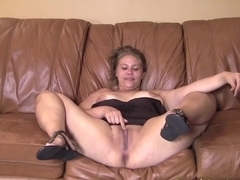 Abby has a wide pussy ready to swallow meat