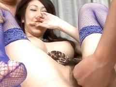 Wild group sex for busty asian