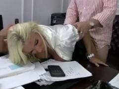 Blond Bitch Mama Bonks her Boss