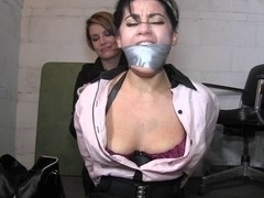 Delicious busty babe gets a BDSM treatment in HD