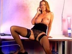Hawt phonesex Leigh in dark suit and underware