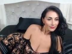 Raven Haired Milf in Webcam