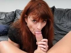 Mature Redhead Kelly Nichols Chokes On Cock