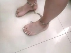 feet metal cuffs