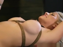 Machine bondage double penetration first time Big-breasted blond