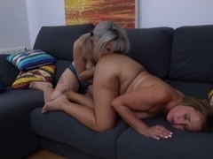 Old and young lesbians love and fuck each other