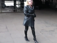 Lady in Crotch High Boots