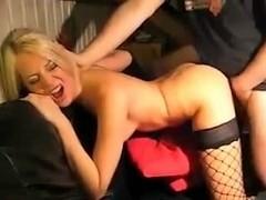 Euro Slut on Couch