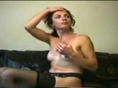 Pretty brunette wife make a hot sex fun with husband when parents leave damn