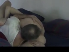 Mature amateur wife sucks husband before 69 and doggy fuck