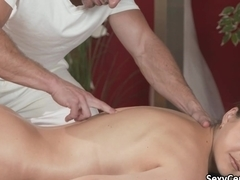Deep fuck after stretch and massage