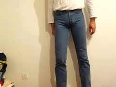 void urine in skintight levis 501 jeans