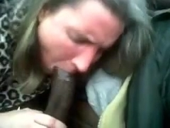 Mature white wife cheats on her husband with me in my car