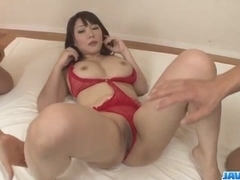 Busty Asian lady, Hinata Komine, craves for a wild fuck