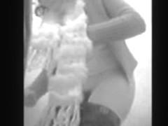 Hairy girl hidden cam
