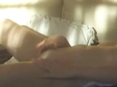 The amateur lady got caught sexily masturbating on spy cam