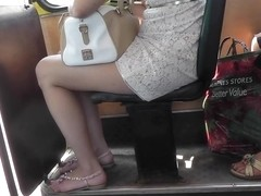 Impressive upskirt XXX with sex lady in leggings