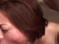 Fucked by a wild gangbang mature chick Reiko Yamaguchi